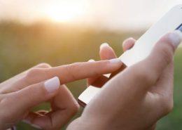 Oleophobic coating on smartphone