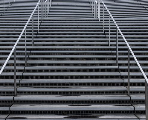 non slip coating treated concrete stairs
