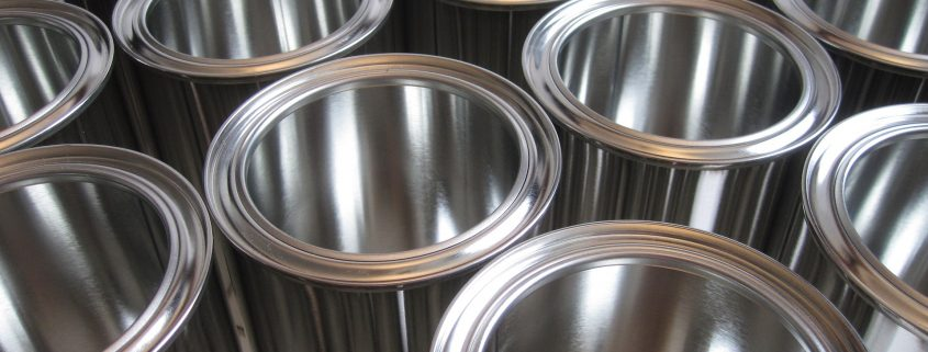 chemical cans with special packaging coatings